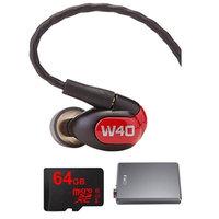 Westone W40 Quad Driver Premium In-Ear Monitor Headphones - 78504 w/ FiiO E12 Amp Bundle