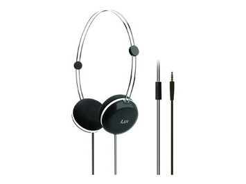 Jwin Electronics Corporation HIGH-FIDELITY STEREO HEADPHONES SPEAKEZ REMOTE - BLACK