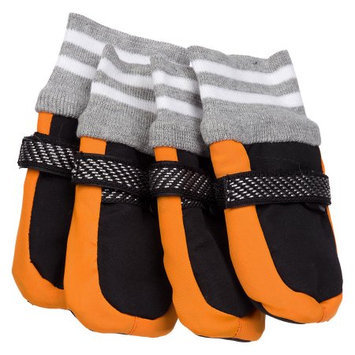 Pet Life Llc Pet Life Adjustable Orange Dog Boots