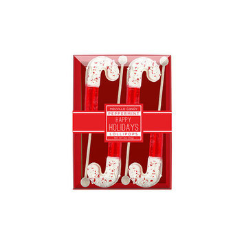 Chocolate Dipped Candy Cane With Peppermint Lollipops 4 Pack, 3 Count