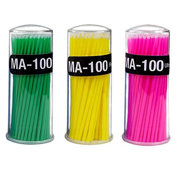 100pcs Cotton Swabs, Safety Cotton Buds Sticks for Applying and Removing Make-up