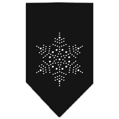 Mirage Pet Products 67-25-14 SMBK Snowflake Rhinestone Bandana Black Small
