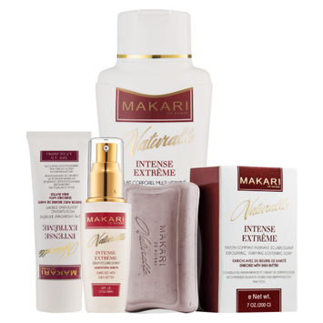 Makari Naturalle Intense Extreme Gift Set? Lightening, Toning & Moisturizing With Shea Butter & SPF 15? Anti-Aging & Whitening Treatment for Dark Spots, Acne Scars & Wrinkles
