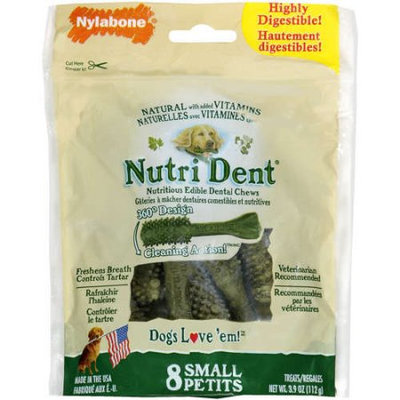 Nutri Dent: Nutritious Edible Dental Chews Dogs Love 'em, 3.9 Oz
