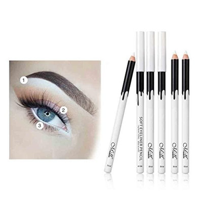 Alonea 12PC White Eyeliner Pencil Eye Liner Waterproof Long Lasting Eye Brighten