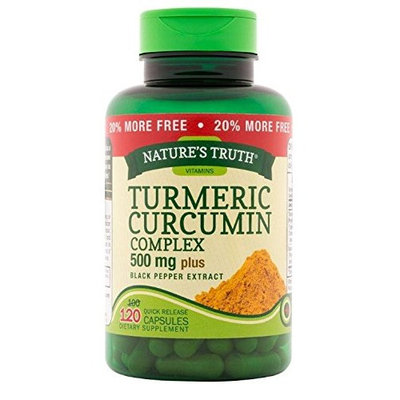 Nature's Truth Turmeric Curcumin Complex 500 mg Plus Black Pepper Extract, 60 Count