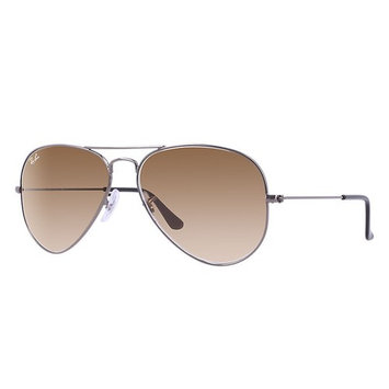 Ray-Ban RB3025 Classic Aviator Sunglasses, 55MM, Gradient Lens