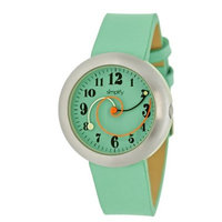 Simplify The 2700 Women's Spiral Hands Leather Strap Watch
