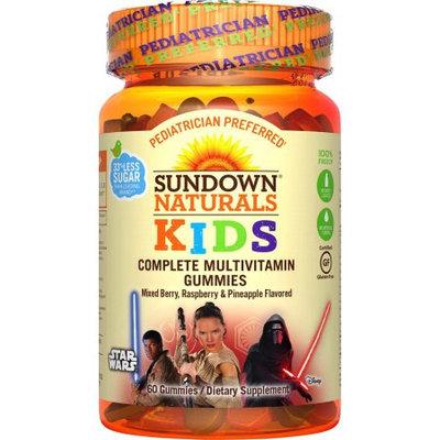 Nature's Bounty Sundown Naturals Kids Star Wars Complete Multivitamin Gummies, Berry Raspberry and Pineapple, 60 Ct