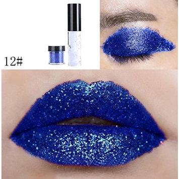 Dragon Ranee Shimmer Glitter Lip Gloss Powder Palette Glitter Lipstick Cosmetic Eye Shadow by DMZing (LE-12)