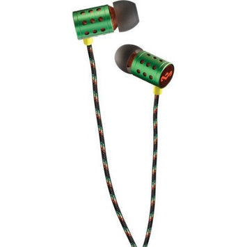 House Of Marley - Headphones The House of Marley Midnight Ravers Earphones Includes Mic - Rasta
