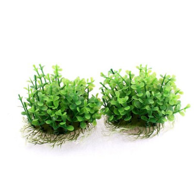 Aquarium Fish Tank Artificial Water Plant Grass Decor Green 9cm Height