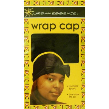 Black Wrap Cap for Hair, Comfortable, Durable and Breathable, Whole/ Full Head Coverage with Soft Texture and Stretch Material, Full Size to Fit Most Heads Keeps Hair Styles in Place, Can Tie in a Bow in the Front
