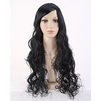 Cool2day® Sexy Women Long Natural Wave Hair Party Wig (Black) (Model: Jf010209)