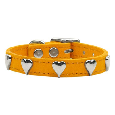 Mirage Pet Products 8315 12MN Heart Leather Mandarin 12