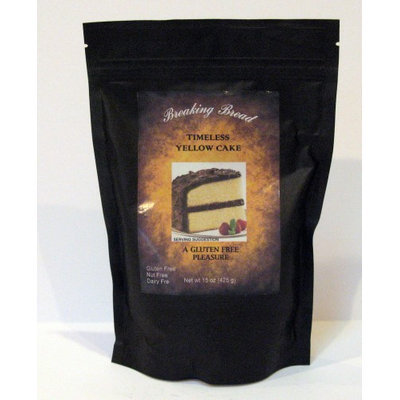 Tineless Yellow Cake Mix Gluten Free Breaking Bread 15 oz Bag
