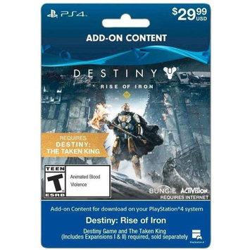 Incomm Destiny Rise of Iron Sony