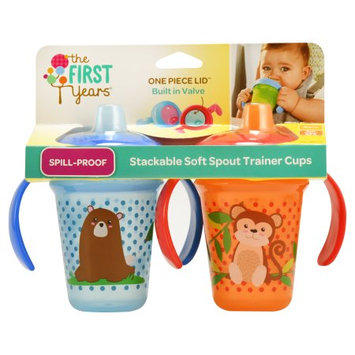 The First Years Soft Spout Stackable Trainer Cup 7oz - 2pk Boy
