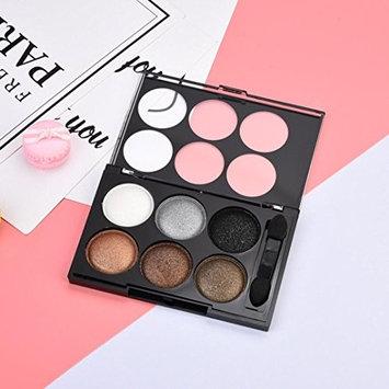6 Colors Flame Shimmer Eye Shadow Palette,YOYORI Silk Satin Shine 6 Color Pearl Eye Shadow Smoke Makeup Nude Makeup Earth Color Makeup