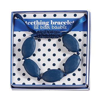 Mud Pie Navy Blue Silicon Bead Teething Bracelet