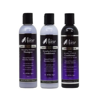 THE MANE CHOICE Easy On The Curls Detangling & Hydration Shampoo & Conditioner and Soft As Can Be 3-in-1 Conditioner ( 8 Ounces / 230 Milliliters ) - Complete Hair Treatment For Your Curls
