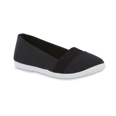 Basic Editions Women's Hana Black/White Skimmer Shoe [Width : Medium]