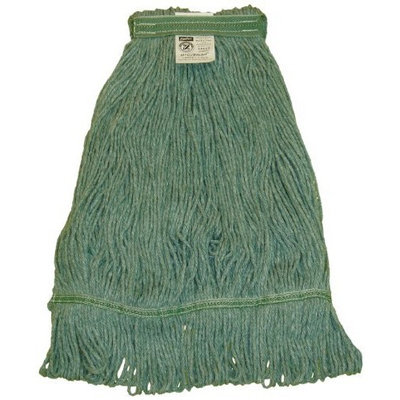 Zephyr 28267 HC/Blend Green 4-Ply Yarn Large Health Care Loop Mop Head with 1-1/4