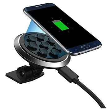 Wireless Charger,AutumnFall® Qi Wireless Car Charger Transmitter Holder Fast Charging For Galaxy Samsung S7 Edge