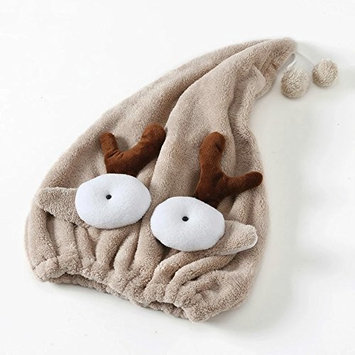 DeroTeno Hair Drying Cap, Microfiber Hair Turban Hair Drying Towel Ultra Absorbent for Women Girls