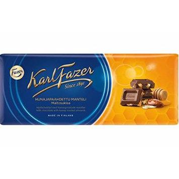 Fazer Chocolate bar 200g Milk chocolate with honey roasted almonds NEW FLAVOR (set of six)