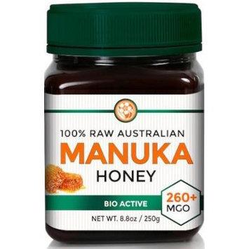 RAW MANUKA HONEY MGO 260+ (NPA 10+) 8.8oz (250g) Medicinal Strength - Medium Certified Rating - BPA Free Jar - Cold Extraction - Independently Verified
