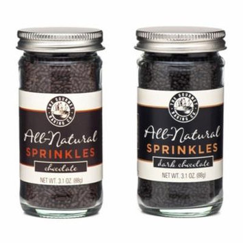All Natural Chocolate Sprinkles Variety Pack - Chocolate & Dark Chocolate - 3.1 Oz. Each