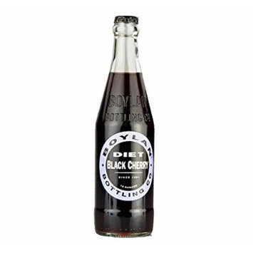 Boylan Diet Black Cherry Soda 12 oz. (24 Bottles)