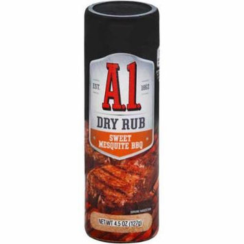 A1 Dry Rub Sweet Mesquite Seasoning, 4.5 Ounce -- 12 per case.