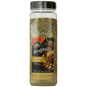 Club House La Grille Vegetable Seasoning, 625 grams/22.04 Ounces {Imported from Canada}