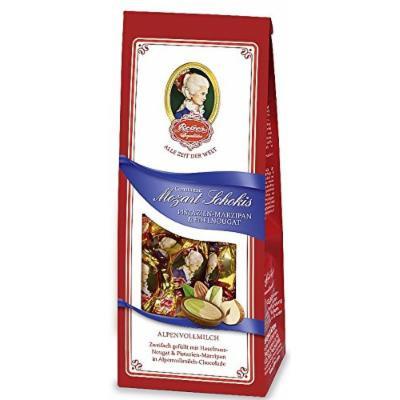 Reber Constanze Mozart Schokis pistachio marzipan & Edel Nougat 100g