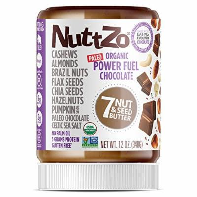 Nuttzo Organic Smooth Chocolate Power Fuel Seven Nut and Seed Butter, 12 Oz (4 Pack)