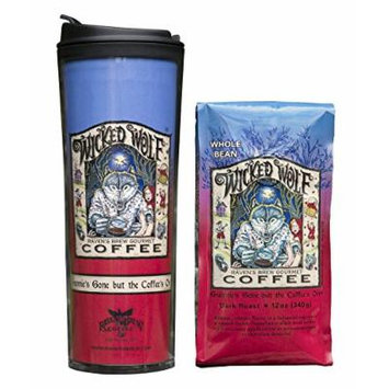 Whole Bean Coffee with Matching Tumbler, Bundle (Wicked Wolf)