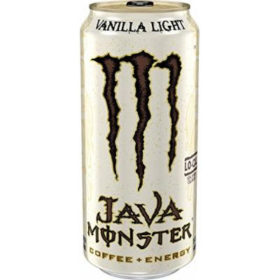 Java Monster Coffee + Energy Drinks 4 - 15Floz Cans (Vanilla Light)