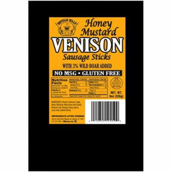 Buffalo Bills Honey Mustard Venison Sausage Sticks (8oz of gluten free venison sticks no MSG)