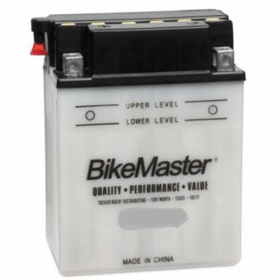 BikeMaster Conventional Battery 40 CCA 120L X 70W X 92H mm Fits 89-90 Yamaha Zuma 50 CW50