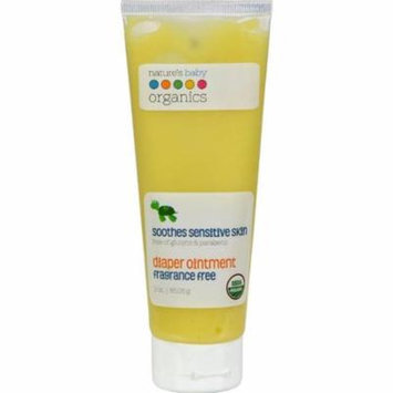 Natures Baby Organics HG0275529 3 oz Diaper Ointment All Natural Fragrance Free