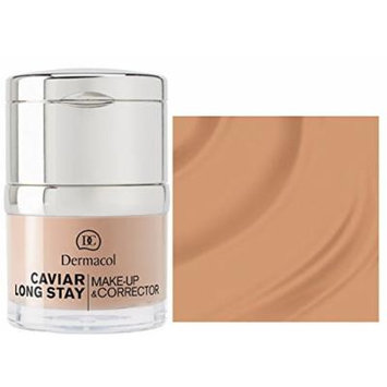 Dermacol CAVIAR LONG-STAY MAKE-UP & CORRECTOR - Long Stay Make up with Caviar Extracts and Perfecting Concealer - 30ml / 1oz (04 Tan)