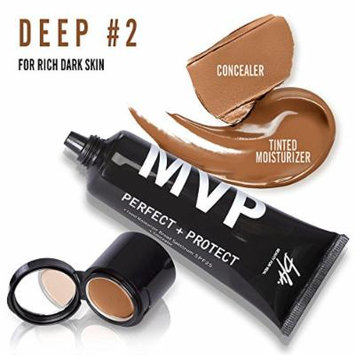 Beauty For Real MVP Perfect + Protect Tinted Moisturizer SPF25 (45 ml/1.5 fl oz)+ Concealer (1.5 g/0.05 oz) 2 in 1 (Deep #2)