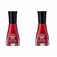 (Pack of 2) - VALUE PACK! - Sally Hansen Insta-dri Fast Dry Nail Color, 01 Racin'Red - 0.31 Fluid Ounce