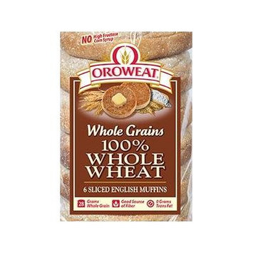 Oroweat 100% Whole Wheat English Muffins 6 per bag (Pack of 2)