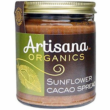 Artisana Organics - Sunflower Cacao Spread, Made With Cacao Criollo, Single Ingredient Handmade Rich and Thick Spread, USDA Organic Certified and Non-GMO (2-Pack, 8 oz)