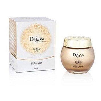 deja vu dead sea minerals bioxage anti-aging night cream for face and decollete, 50ml 1.7fl.oz