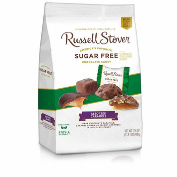 Russell Stover Sugar Free Caramel Mix Gusset Bag, 17.6 Ounce