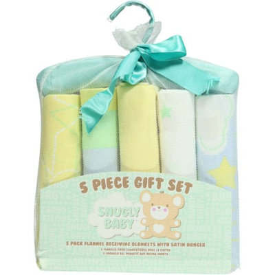 Snugly Baby Calm Skies 5-Pack Receiving Blankets Gift Set